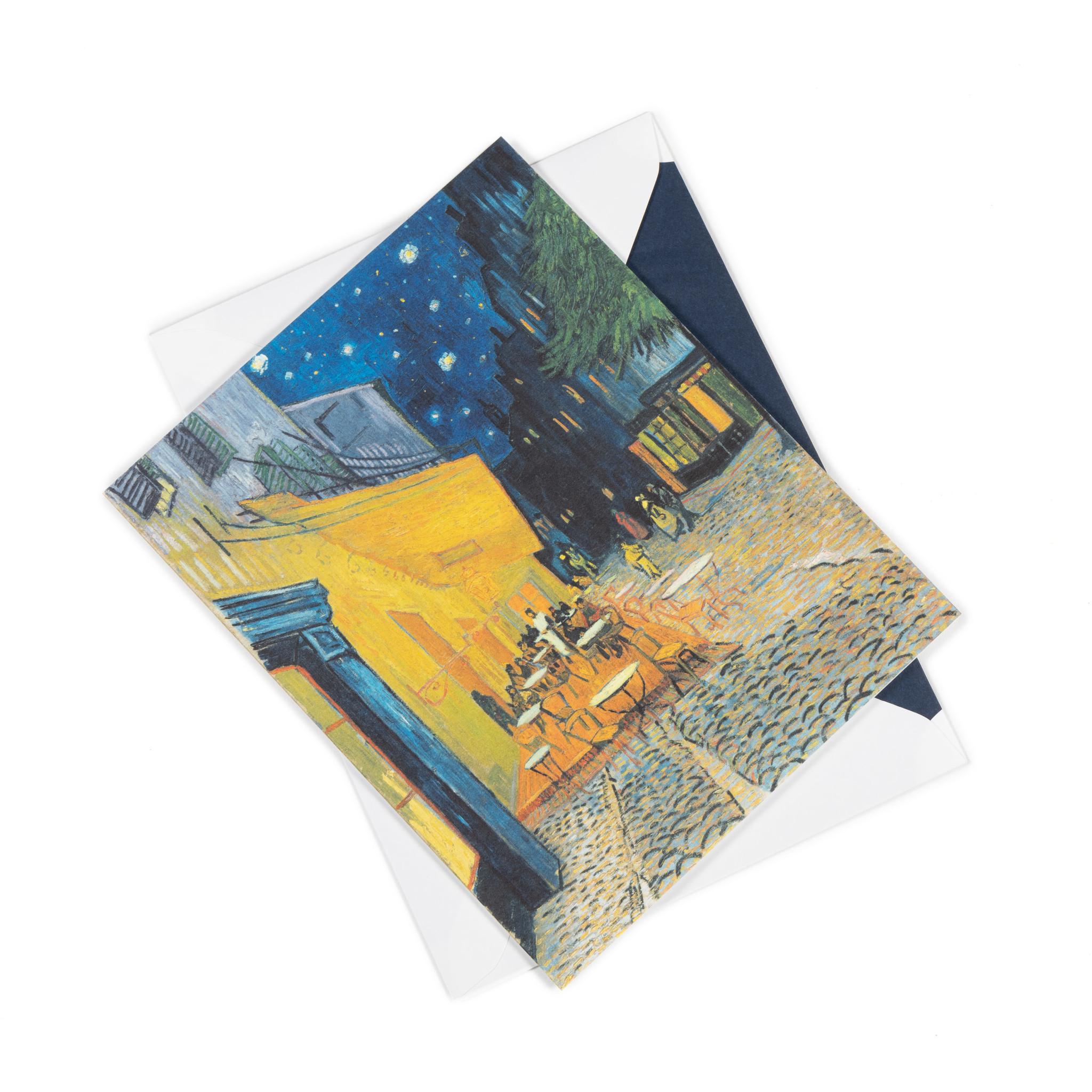 Dubbele kaart Van Gogh - Caféterras bij nacht