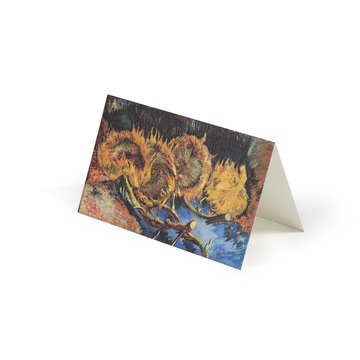 Double card Van Gogh - Four sunflowers gone to seed