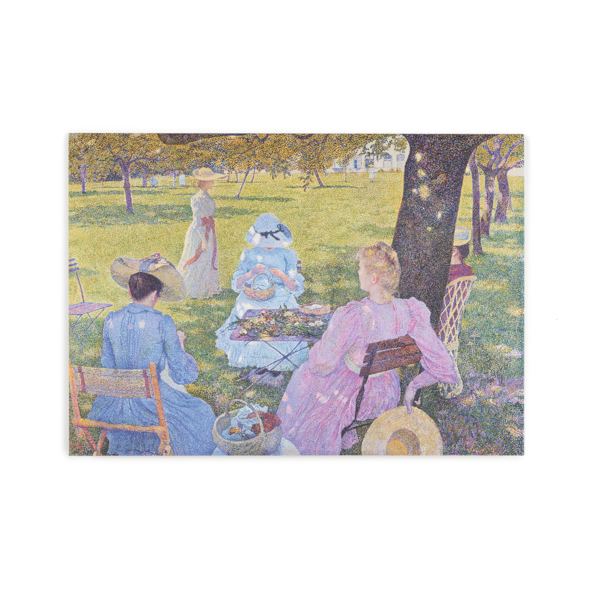 Double card Théo van Rysselberghe The orchard