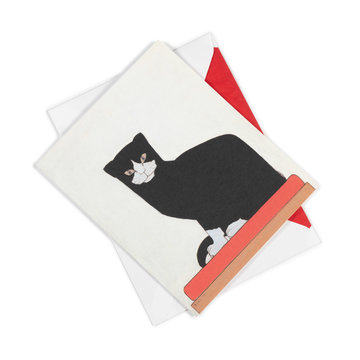 Double card Bart van der Leck - The cat