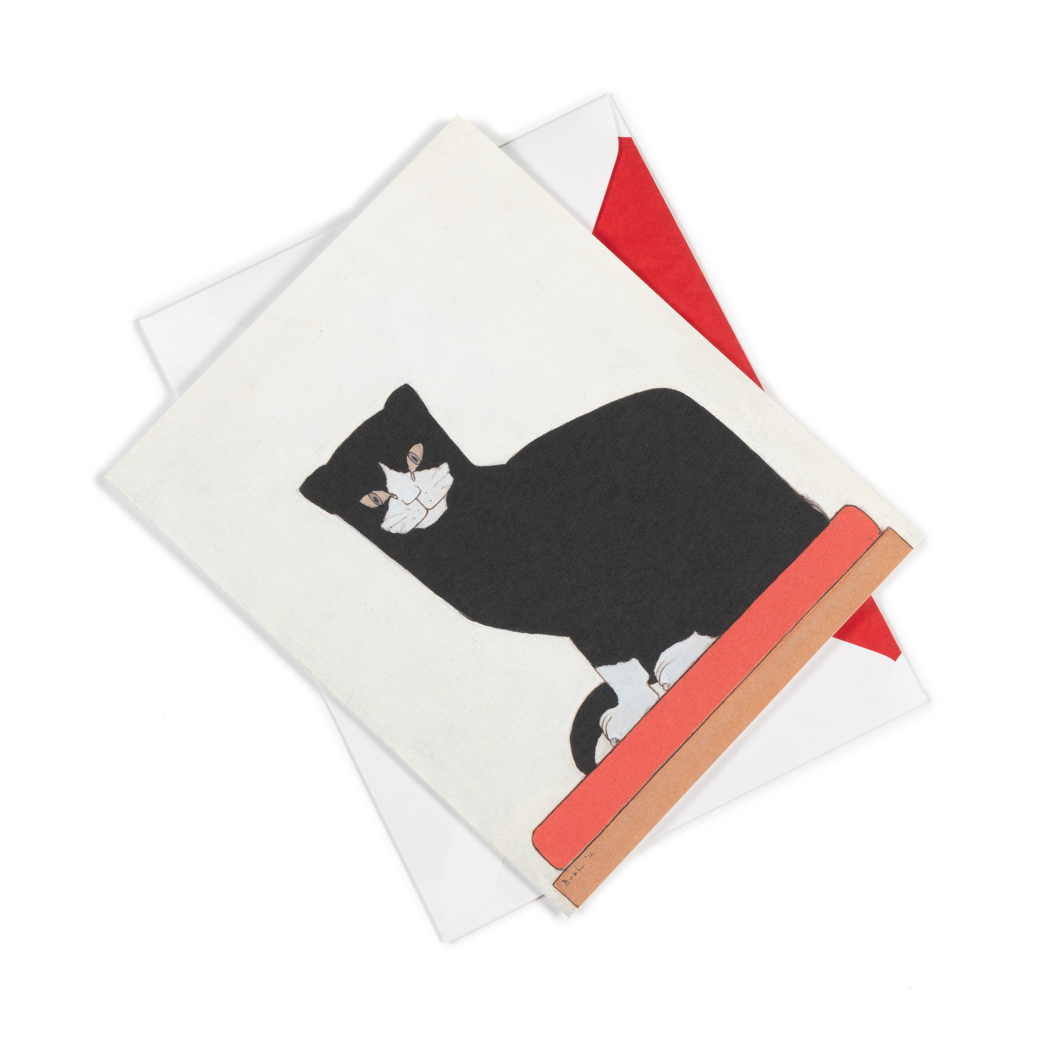 Double card Bart van der Leck The cat