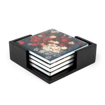 Ceramic Coasters Van Gogh Meadow flowers and roses