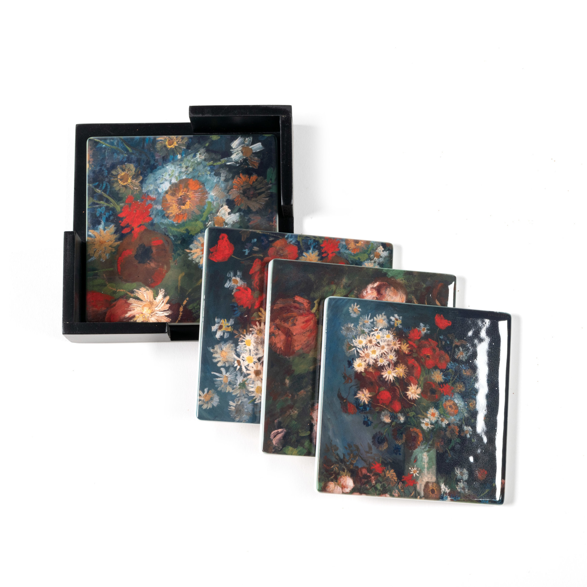 Ceramic Coasters Van Gogh - Still life with meadow flowers and roses