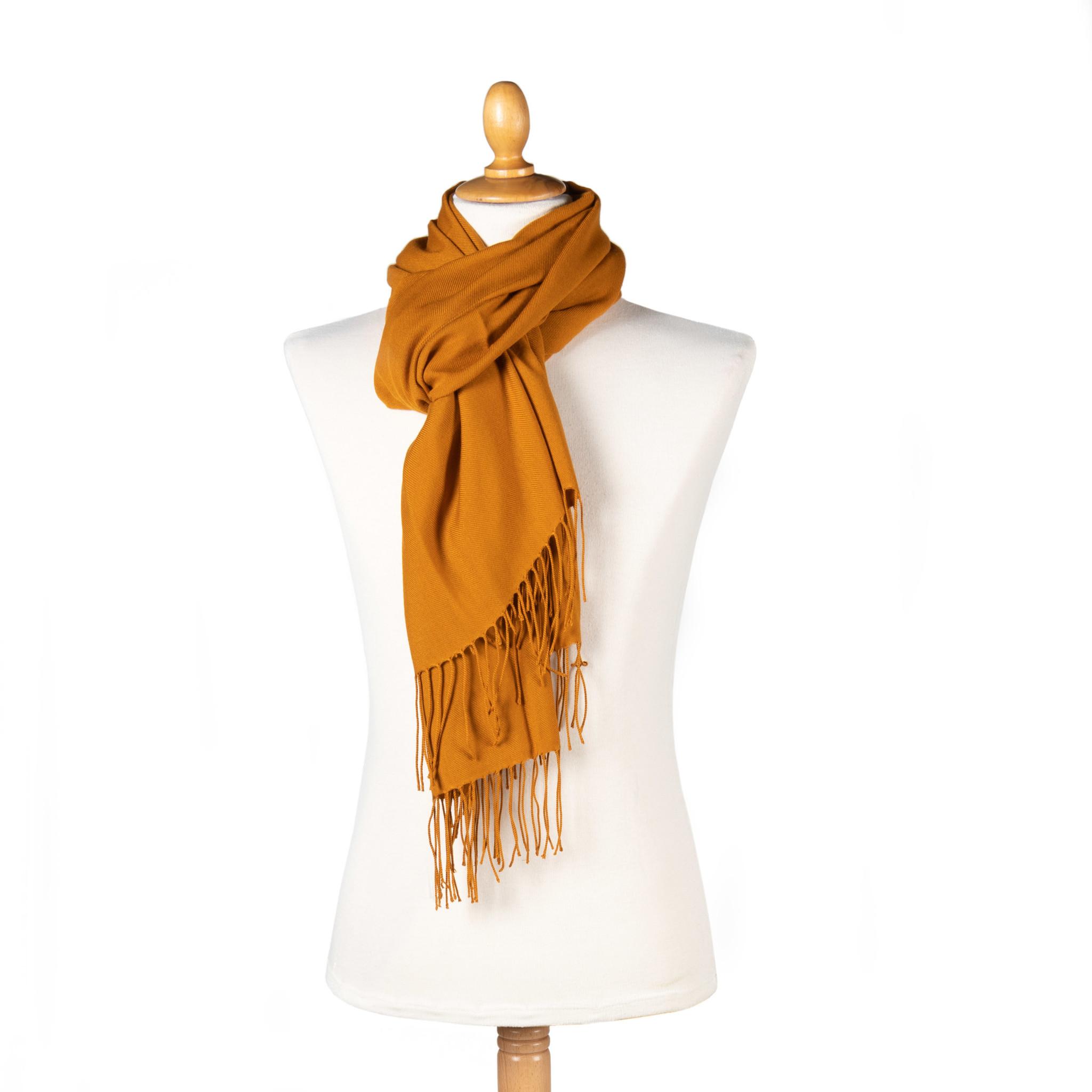 Pashmina scarf - ocre
