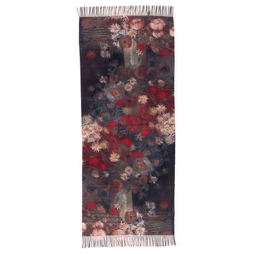 Van Gogh scarf - Still life with meadow flowers (viscose - red)