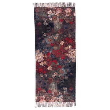 Van Gogh sjaal - Stilleven met akkerbloemen (viscose - rood)