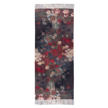 Van Gogh scarf - Still life with meadow flowers (viscose - black)