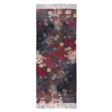 Van Gogh sjaal - Stilleven met akkerbloemen (viscose - zwart)