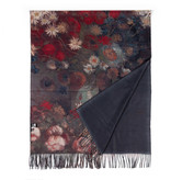 Sjaal viscose Van Gogh Stilleven met akkerbloemen en rozen zwart