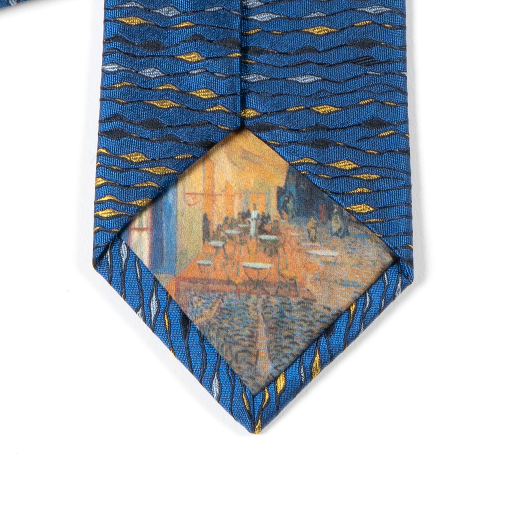 "Van Gogh Tie ""Terrace at night"""