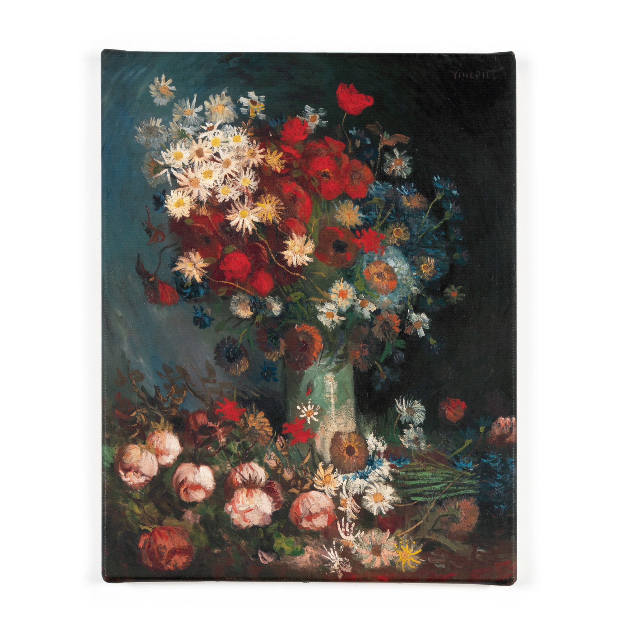 Reproduction canvas Van Gogh Meadow flowers and roses