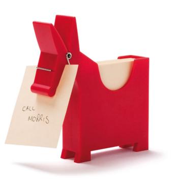 Morris Memo Holder - red