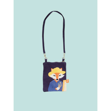 Love this fox Van Gogh little pouch