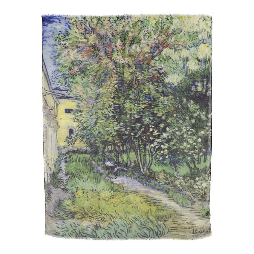 Scarf Van Gogh The garden of the asylum
