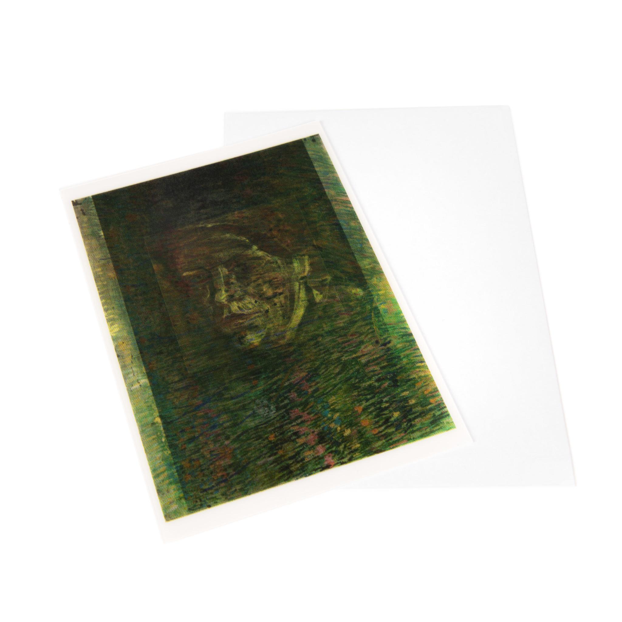 Lenticulaire kaart Van Gogh Grasgrond