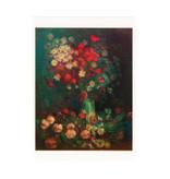 Lenticular card Van Gogh Meadow flowers and roses