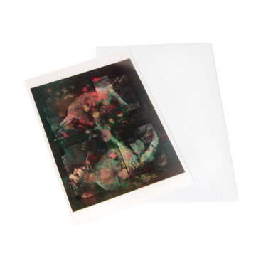 Lenticular card Van Gogh Meadow flowers and roses