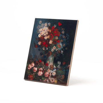Ceramic tile Van Gogh Meadow flowers and roses