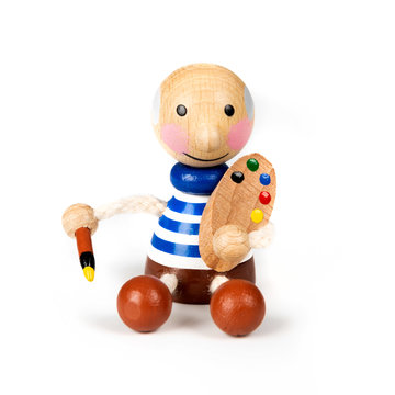 Wooden doll magnet Picasso