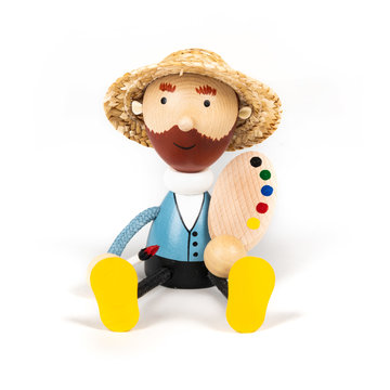 Wooden doll Van Gogh