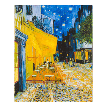 Reproduction canvas Van Gogh Terrace of a café at night large