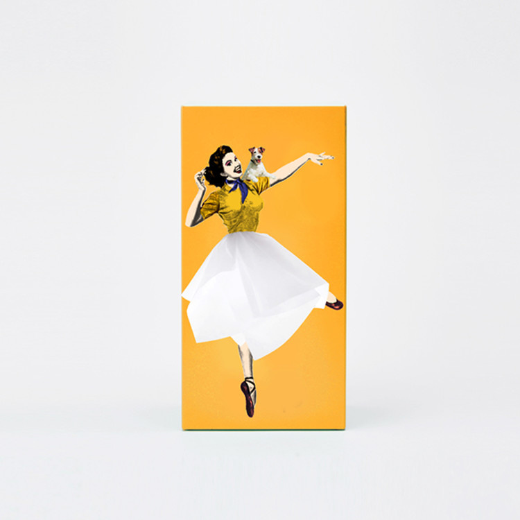 Tissue UP Girl orange yellow