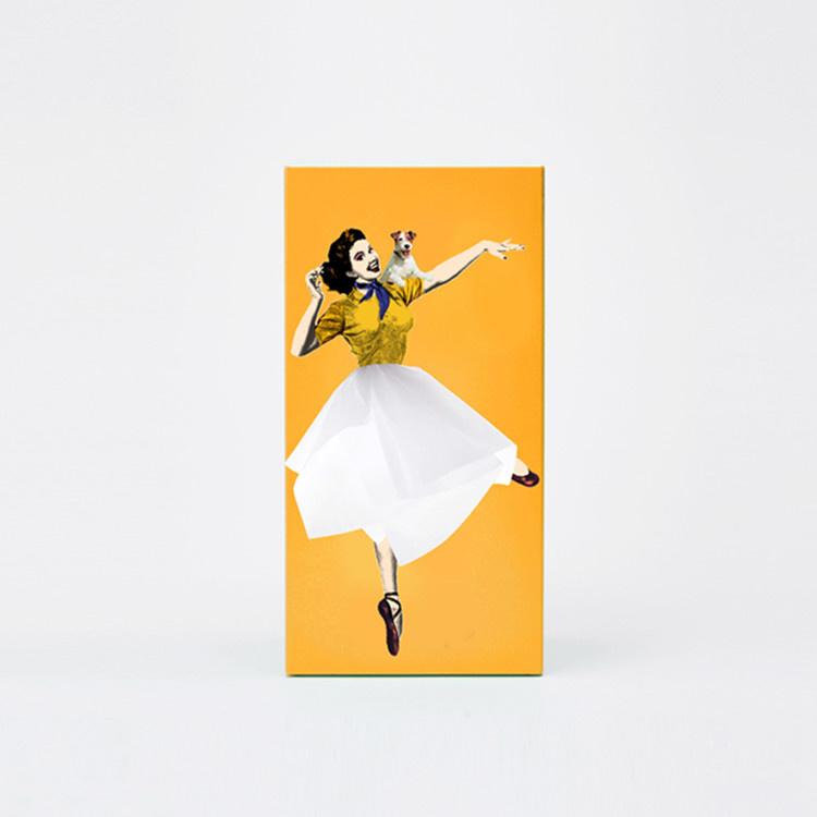 Tissue UP Girl oranje geel