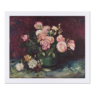 Reproductie Van Gogh Rozen en pioenen