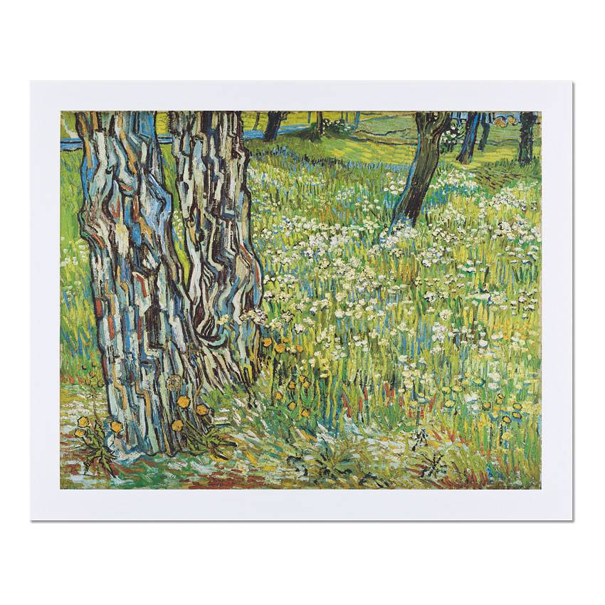 Reproduction Van Gogh Tree trunks in the grass