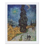 Reproduction Van Gogh Country road in Provence by night