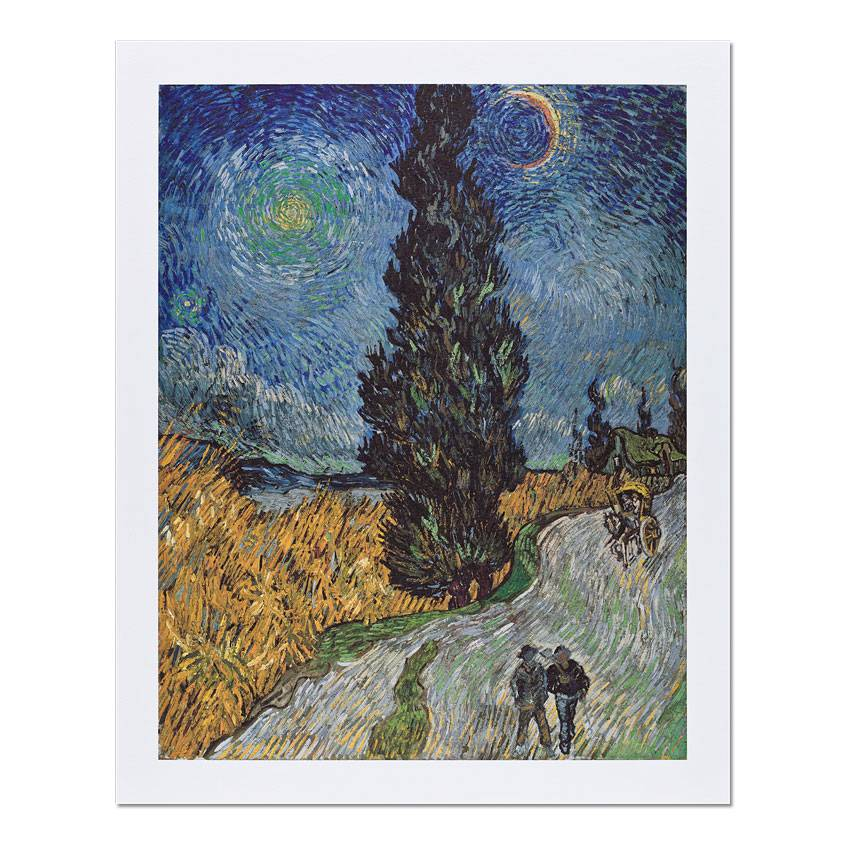 Reproduction 'Country Road in Provence by Night' - Vincent van Gogh