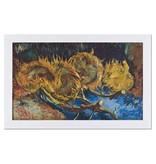 Reproductie Van Gogh Vier uitgebloeide zonnebloemen