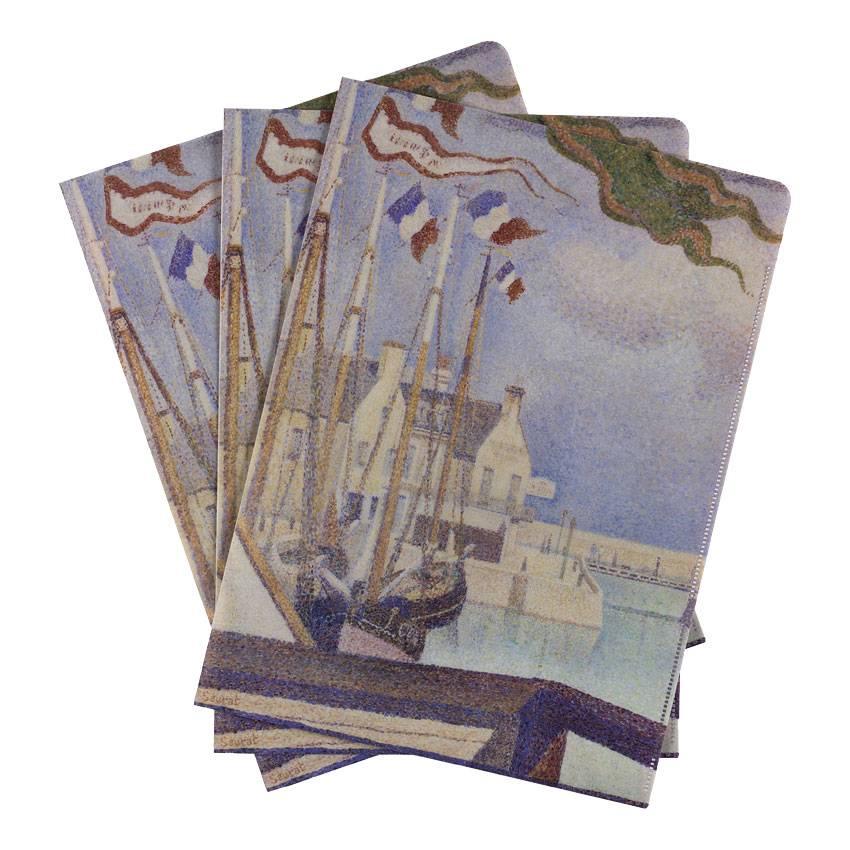 Document wallets Seurat A Sunday at Port-en-Bessin