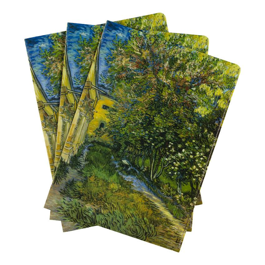 Document wallets 'The Garden of the Asylum at Saint-Rémy' - Vincent van Gogh
