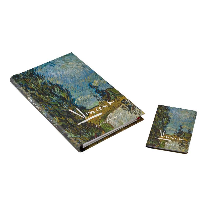 Address books Van Gogh Country road in Provence by night