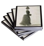 Sticky notes set of five Seurat Lady with a muff