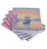 Sticky notes set of five Paul Signac Harbour of Marseille
