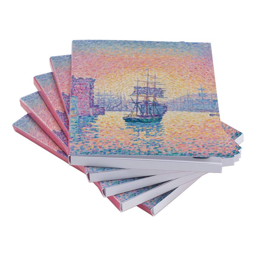 Sticky notes set van vijf Paul Signac Haven van Marseille