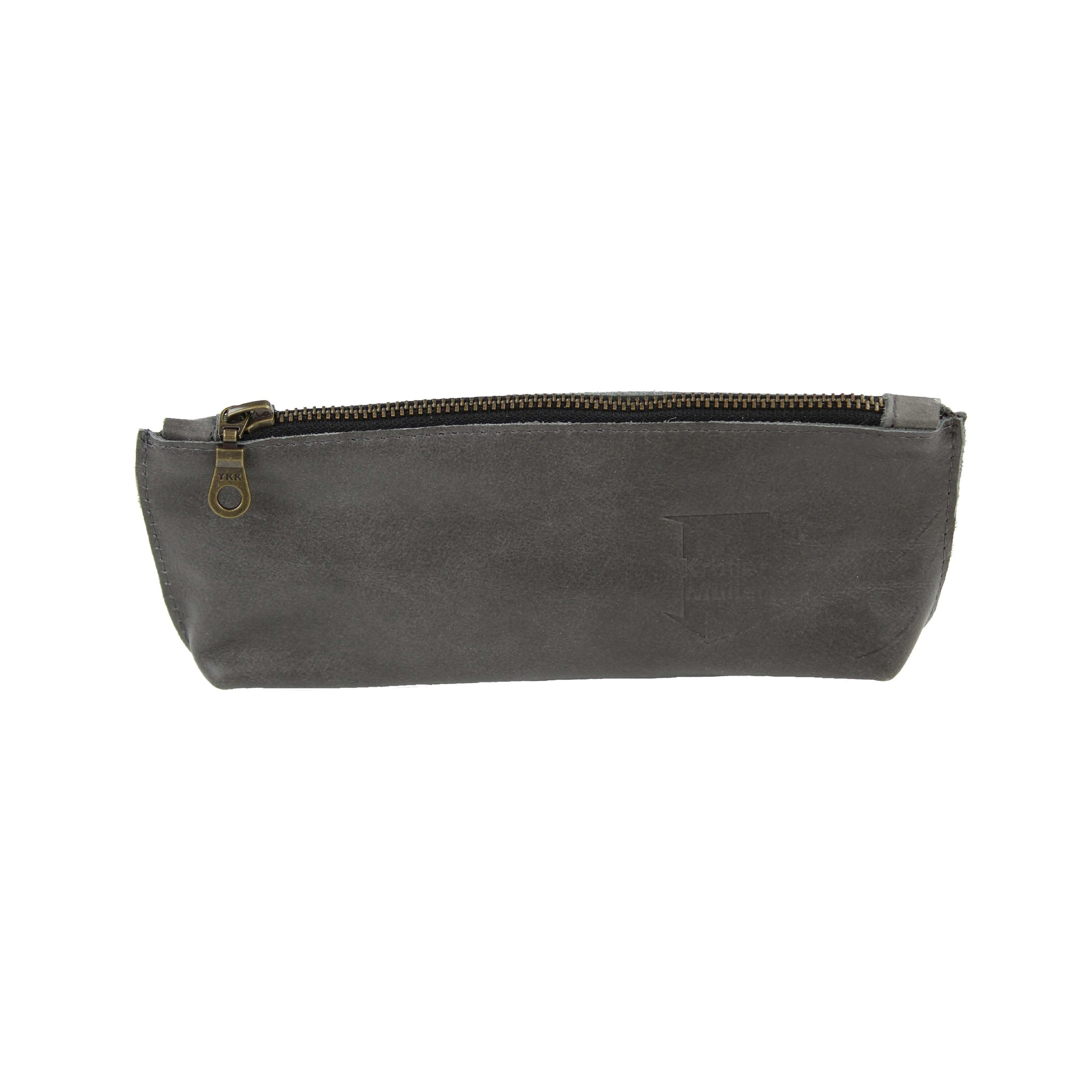 Pouch leather grey