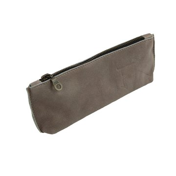 Pouch leather taupe