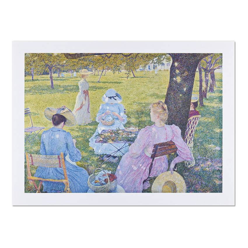 Reproduction Théo van Rysselberghe The orchard