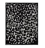 Plaid Mondriaan black and white