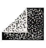 Plaid Mondriaan zwart wit