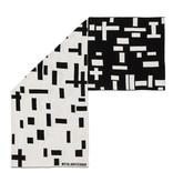 Sjaal katoen Mondriaan zwart wit