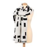 Scarf cotton Mondriaan black and white