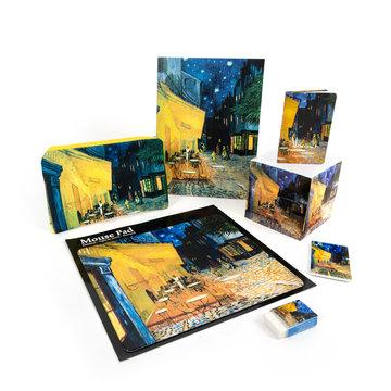 Cadeau set Van Gogh Caféterras bij nacht