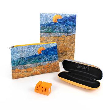 Cadeau set Van Gogh Landschap met korenschelven en opkomende maan