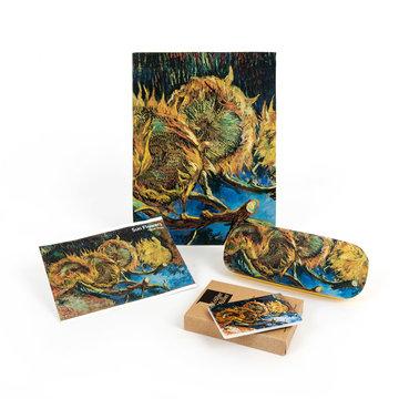 Cadeau set Van Gogh Vier uitgebloeide zonnebloemen