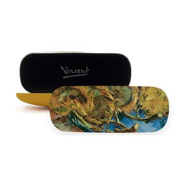 Glasses case Van Gogh Four sunflowers gone to seed