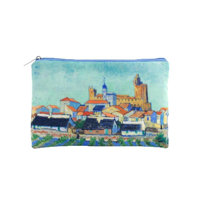 Pouch Van Gogh View of Saintes-Maries-de-la-Mer